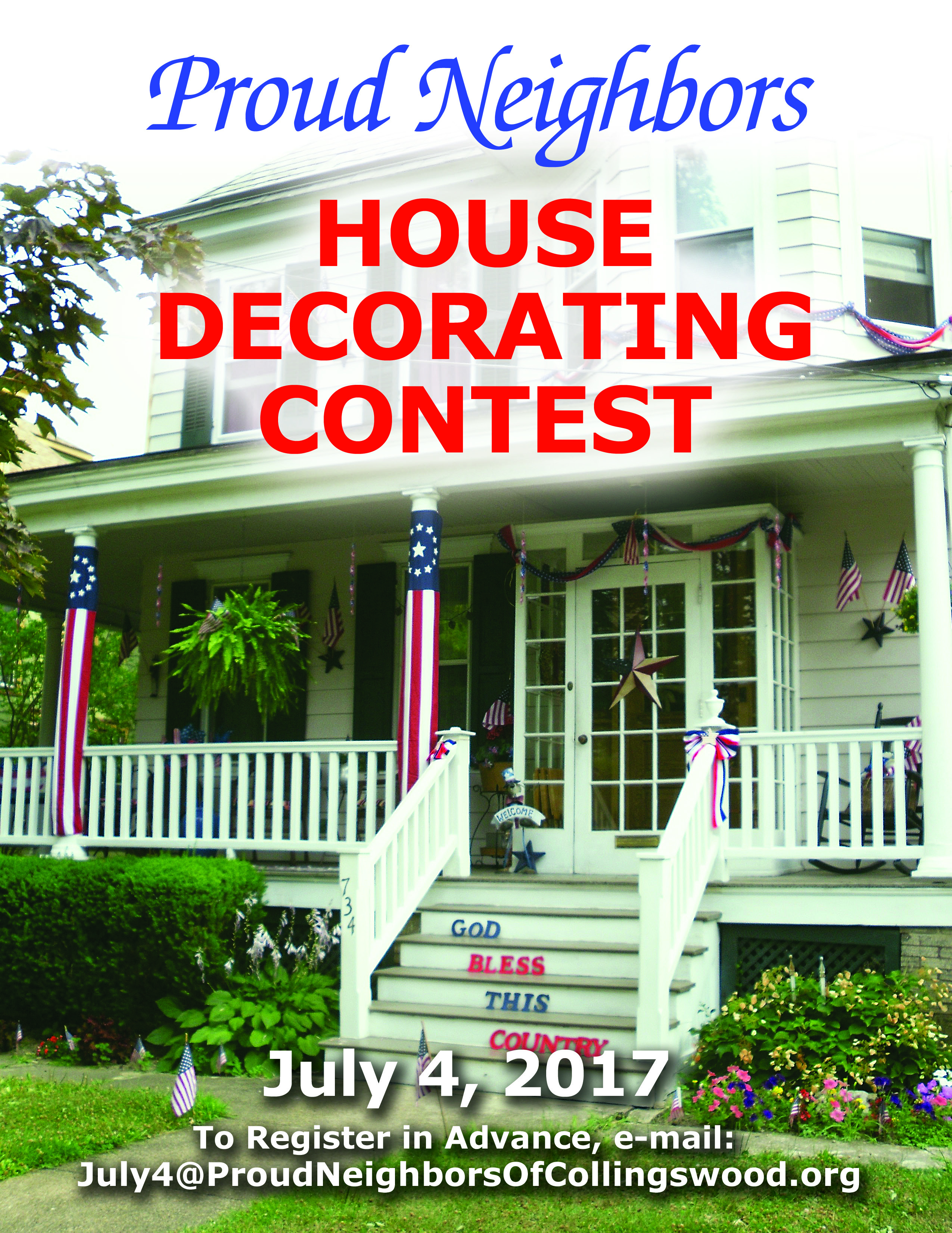 Proud Neighbors Of Collingswood July 4th House Decorating Contest