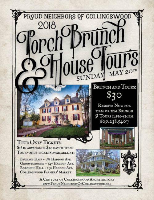 2018 Porch Brunch & House Tour Poster